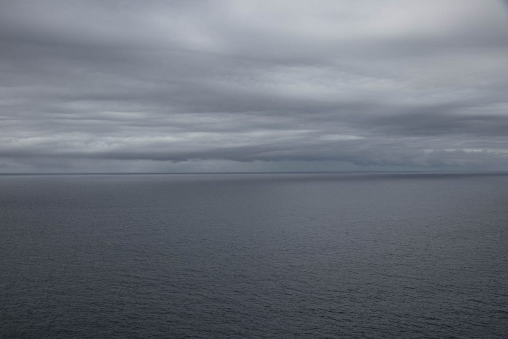 The Tasman Sea under leaden sky