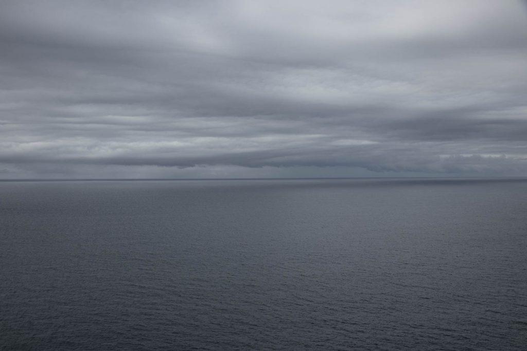 The Tasman Sea under leaden sky