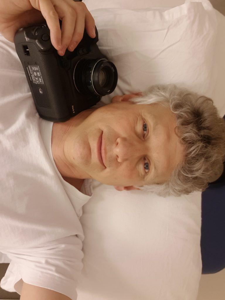 John Oh with camera